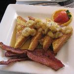 Bananas Foster French Toast with Bacon