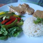 Fish with peanut sauce