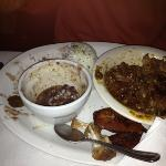  oxtails, black beans, rice, sorry I started eating before I took the pic