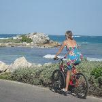  To the beach on bike