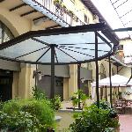 The enclosed patio