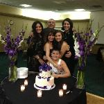 Heart-shaped Cake Table and our family
