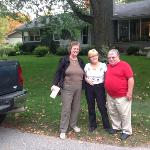 Liz, Anne & Charles outside Cranberry House