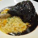  Braised Lamb Shank with butternut squah rissotto