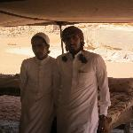 Our guide and host Nayel, right, with his cousin at his shopping and rest pavilion at Wadi Rum.
