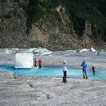 Small base camp on the glacier