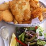  lunch menu seafood basket. chips were AMAZING!!