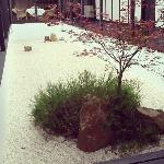 Courtyard area with Japanese garden
