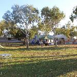 Grassed camp ground