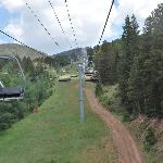 view from chair lift in summer