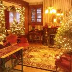  Parlor decorated for Christmas