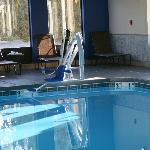 our pool is handicap accessible