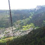 Thats Garni Walter down the bottom of cable car
