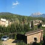 Tramuntana mountains viewed from Room 5 of the Ca'n Quatre Hotel