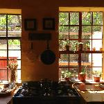 Lovely windows in the Lodge kitchen
