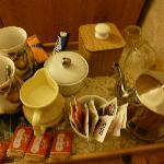 Tea tray in room