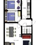 Floorplanner 6 person apartment