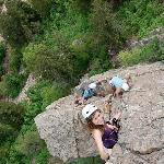 summer climb on the via ferrata