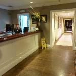  Reception desk and Hallway to dining area