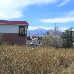  View of Pikes Peak from motel
