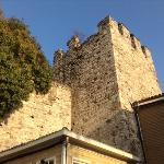  View of Topkapi wall from the cafe terrace.