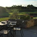 Patio at Raven&#39;s Grille overlooking the 18th fairway.