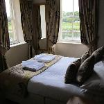 Our Bed with view of river