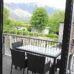 Apartment's Balcony with view of Mountain but no Lake