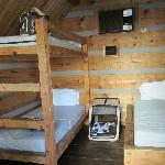 Sleeping area in the cabin