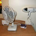 Fan and hair dryer