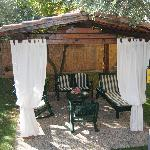  gazebo in giardino