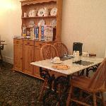 Breakfast room - choice of cereals