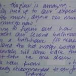 Visitor's Book Comment