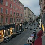 Hotel Napoleon, Bastia - street view from room window