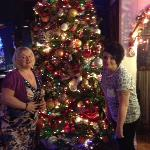  Admiring their fabulous 10ft tree, they know how to do christmas!
