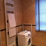 heated towel rail & washing machine