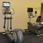 Small but well-equipped workout room