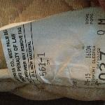  Mattress tag reveals bed made in 2002. Bed was rather lumpy.