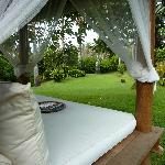 Reading bed in the garden...LUXURY!!
