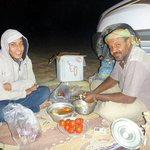 My magnificent tour leader Eslam and guide Sameh making me a wonderful dinner! thank you!
