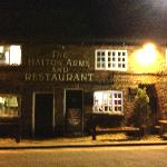 The Hatton Arms at night