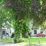 The village green in the centre of Inistioge