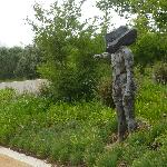 Sculptures in car park