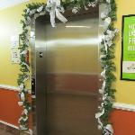  Elevator Decorated for Holiday
