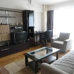 Great living area, desk, wi-fi, cable TV