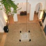 the Riad patio