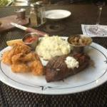 Today' Special; 9oz.Top Sirloin with shrimps any style
