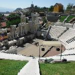 The roman theater discovered in center of Plovdiv