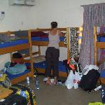the hostel room