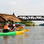 Kayaking at the famed River Kwai ...